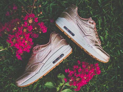 Girly Metallic Sneakers