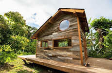 Tropical Cozy Cabins - This Tiny Hawaiian Wood Cabin is Only 200 Square Feet But Feels Airy