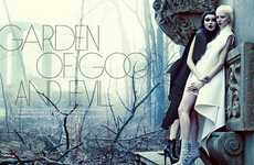Gothic Twin Editorials - The FASHION Magazine Photoshoot Stars Meagan and Gaby