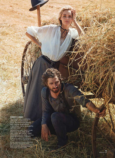 Dreamy Outback Editorials - Photographer Will Davidson Shoots Models in the Countryside for Glamour