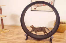 Cat Hamster Wheels - This Exercise Wheel for Felines Makes Use of Their Natural Hunter Instinct