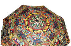 Kaleidoscopic Superhero Umbrellas