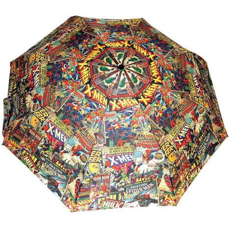 Kaleidoscopic Superhero Umbrellas