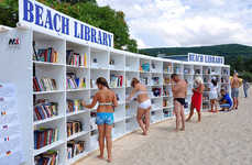 Beach Library Installations - Herman Kompernas Promotes Reading by the Bulgarian Black Sea