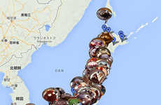 Endangered Dessert Maps - This Google Map Raises Awareness on Japan's Disappearing Tanuki Cakes