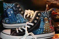 Customized Sci-Fi Sneakers - These DIY Shoes are Inspired by Dr. Who and Can Be Purchased on Etsy