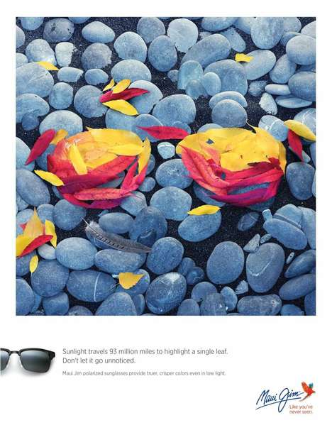 Abstract Sunglasses Ads