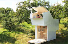 Mobile Wooden Shelters - The Soul Box by Allergutendinge Can be Placed Anywhere
