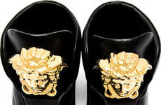 Embelished Designer Sneakers - These Versace Medusa High Sneakers are Incredibly Extravagant