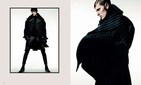 Vanguard Winterwear Editorials - Essential Homme's Between Climates Story is Ready for the Cold