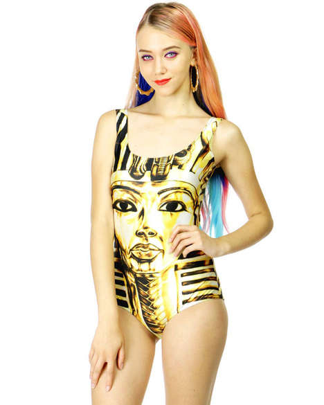 Edgy Egyptian Swimwear