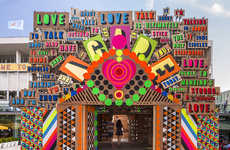 Love-Celebrating Installations - The Temple of Agape was Completed for the Festival of Love