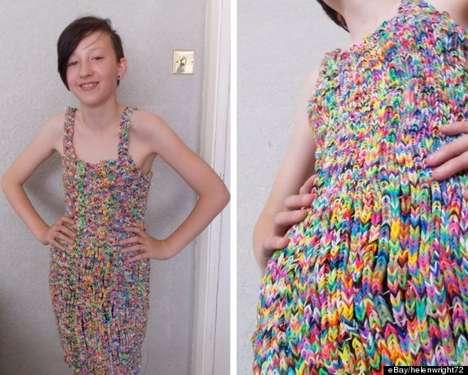 Rainbow Elastic Dresses