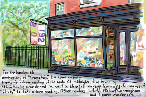 Charming Bookstore Illustrations