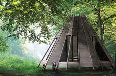 Customizable Teepee Cabins - The Nook by Antony Gibbon is Convert into a Raft