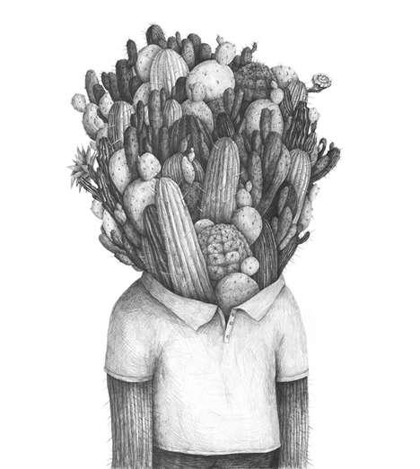 Surrealist Pencil Portraits