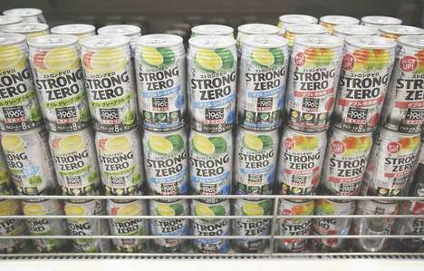 Canned Fruity Cocktails - Japan's Strong Zero Pre-Mixed Cocktails Come in Cans