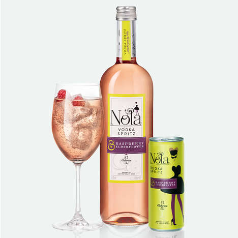 Pre-Mixed Vodka Spritzers - Nola Vodka Spritzers Come Bottled and Canned for Instant Enjoyment