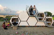 Modular Honeycomb Campers - These Stackable Sleeping Cells are Perfect for Festivals