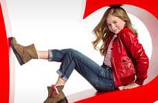 Social Media Footwear Campaigns - I Heart Ugg Launches Tween Line with Mobile Photo Editor Aviary