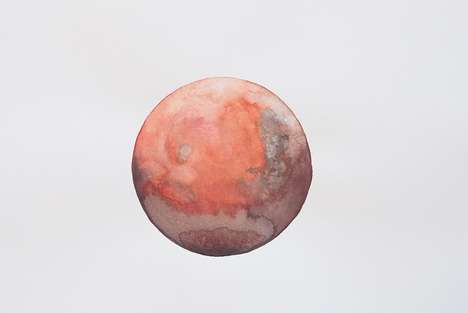 Cosmic Watercolor Paintings - Artist Stella Maria Baer Creates Otherworldly Artworks