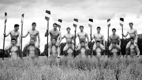 Naked LGBT Calendars - The Warwick Rowers Calendar Design Bares it All in Support of Gay Rights