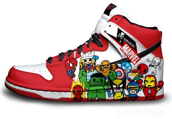 54 Dynamic Comic Book Shoes