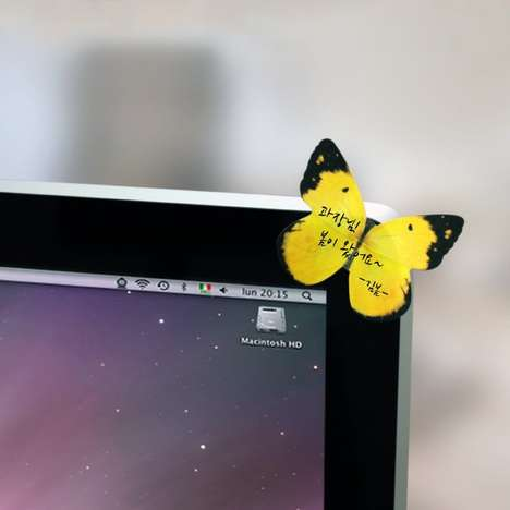 Beautiful Butterfly Memo Pads - The Butterfly Deco-It Sticky Notes Bring Nature into the Office
