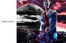 Otherworldy Fashion Ads - The Latest Prabal Gurung Fall Campaign Stars Rosie Huntington-Whiteley