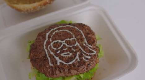 3D-Printed Selfie Burgers - Hellmann's Food Selfies Used Mayo to 3D Print on Burgers