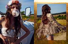 Boho Wanderlust Editorials - This Road Trip Editorial Features Hippie Styles Perfect for the Road