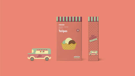 Retro Ice Cream Packaging