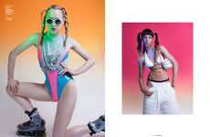 Raver-Themed Swimwear Editorials