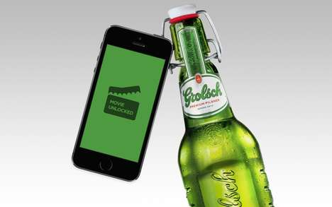 Movie-Unlocking Beer Bottles - Grolsch's Movie Unlocker Bottles Let You Pay for a Movie with Beer
