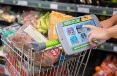 Shopping Survey Tablets - Co-operative Food's Smart Shopping Cart Asks Customers for Feedback