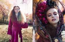 Luxe Bohemian Editorials - Glassbook Magazine's Harvest Moon Editorial is Eccentrically Elegant