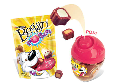 Fetching Treat Packaging - Purina's Beggin' Poppers Pet Treat Packaging Initiates a Game