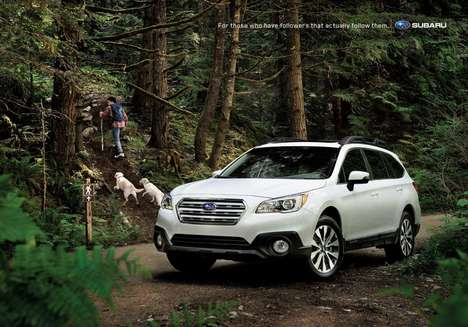 Offline Adventure Ads - Subaru's Car Ads Poke Fun at Those Who Are Obsessed with Social Media