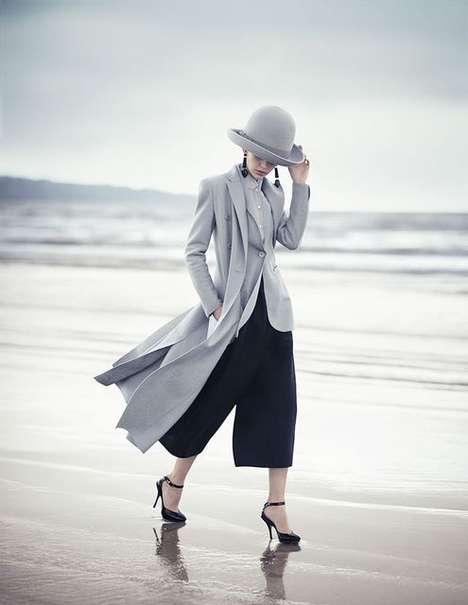 Sleek Seaside Fashion Campaigns