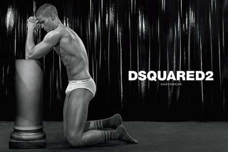 Statuesque Undergarment Fashion Campaigns