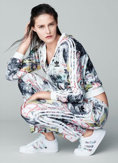 Slicked Back Fashion Campaigns Topshop X Adidas Originals Ads