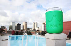 Mason Jar Koozies - The Mason-Ry Silicone Koozies Look Good and Will Keep Your Drinks Insulated
