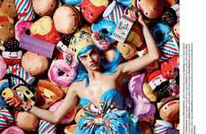 Chic Childlike Fashion Editorials - The Love No. 12 Sweetie Photoshoot Showcases Youthful Backdrops