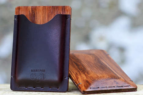 Contemporary Artisan Cardholders - This Luxurious Cardholder Collection is Dapper and Super Suave