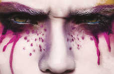 Painterly Beauty Photography - Glassbook Magazine's Watercolour Exclusive is Colorfully Captivating