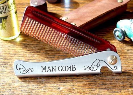 Hairy Hipster Combs - The Man Comb Will Be the Boss of Your Hair, Beard and Beer