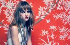 Ornamental Wallpaper Fashion Campaigns