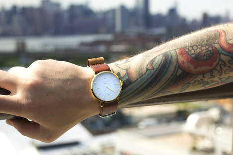 Hipster Leather-Strapped Watches - The New Collection of Throne Watches are Functional and Sleek