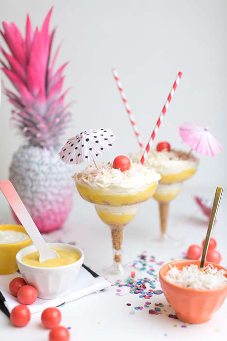 Tropical Cocktail Cheesecakes