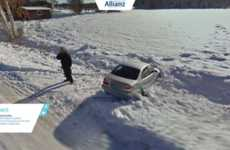 Entertaining Insurance Catalogs - Allianz' Car Insurance Campaign Uses Funny Google Street View Pics